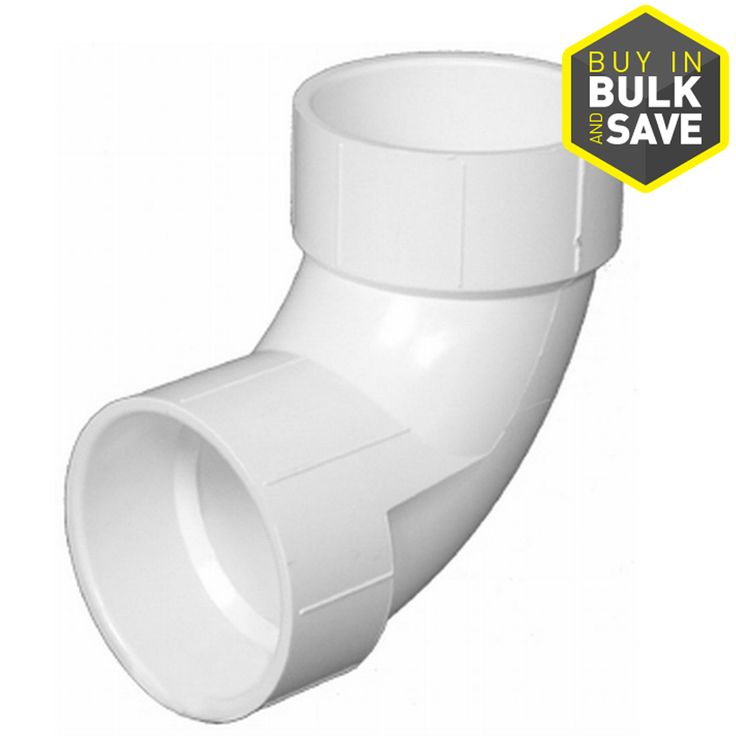 Charlotte Pipe 4-in dia 90-Degree PVC Elbow Fitting