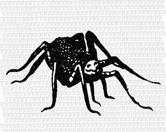 Smiling Spider Insect Fairytale Image by luminariumgraphics, $2.20