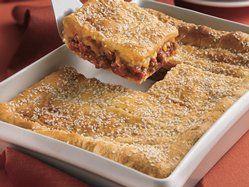 Sloppy Joe Squares recipe from Betty Crocker