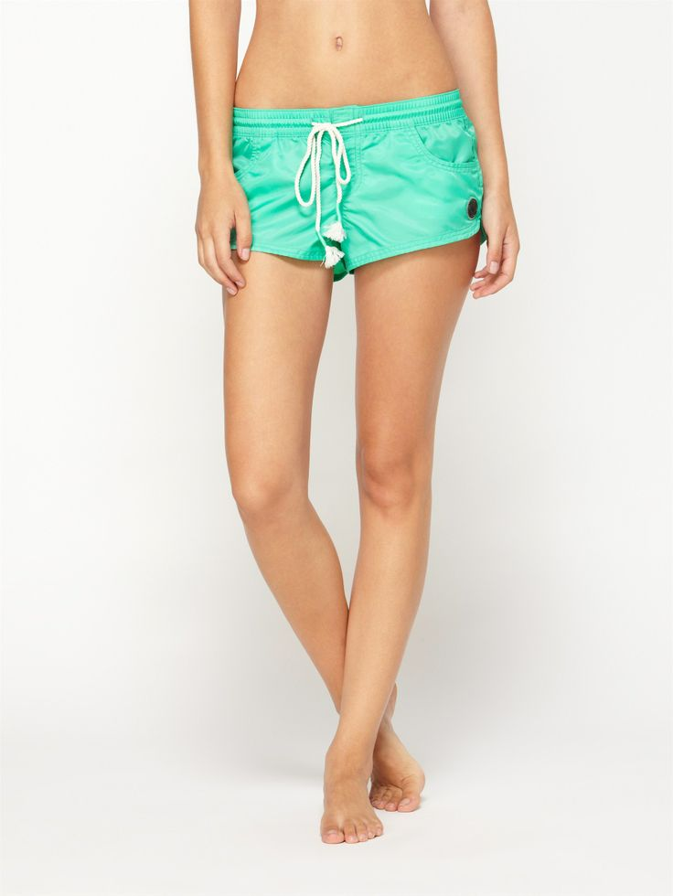 Inside Barell Board-shorts by Roxy. Also come in black. A cute and sporty way to be modest this summer.  I'm sick of swim suit bottoms leaving nothing to the imagination.