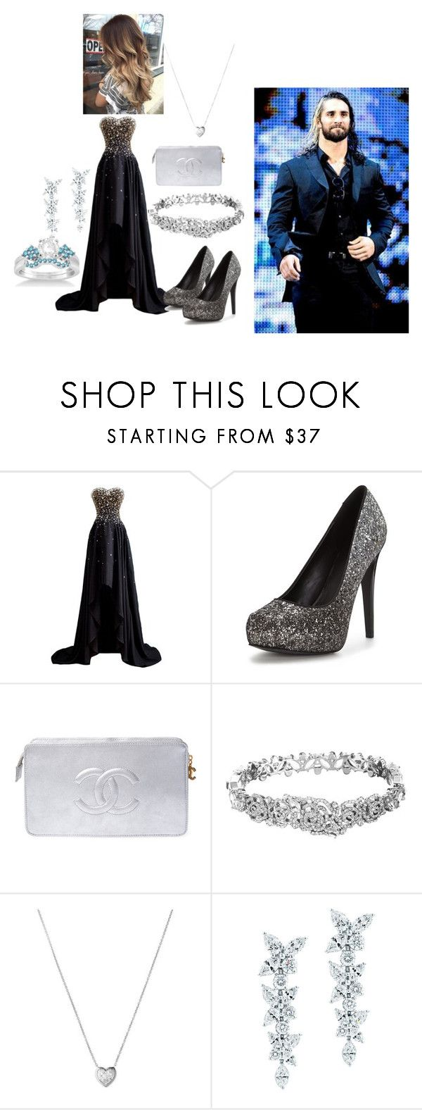 """Wrestlemania 33"" by kristina-kristy ❤ liked on Polyvore featuring beauty, Chanel, Kate Spade, Links of London, Tiffany & Co., Allurez and mmm"