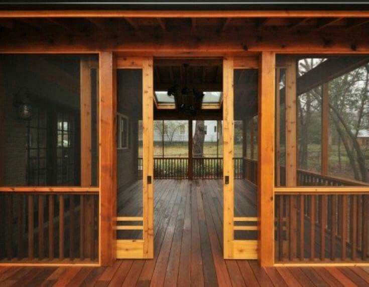 Screened in deck with screened sliding doors. Sky lights. Pure love!!