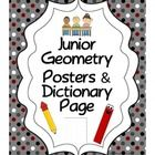 """A set of 10 (8.5"""" x 11"""") portait geometry posters including examples and definitions. Great visuals for the classroom bulletin boards or for use in centers. (TpT $)  Acute angle  Right angle  Obtuse angle  Straight angle  Reflex angle   Parallel lines  Perpendicular lines   Polygon  Regular polygon  Irregular polygon   Includes printable page for student reference. Perfect for adding to their math dictionaries."""