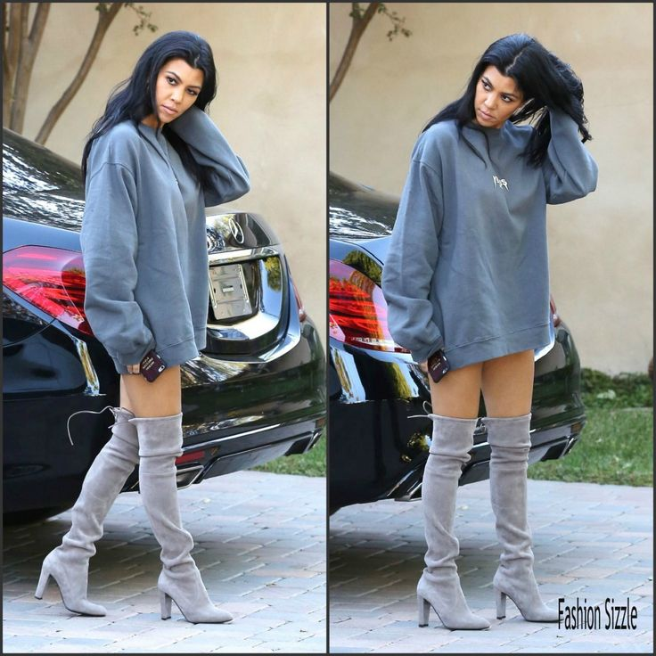 Kourtney Kardashian in Yeezus top – Sherman Oaks, October 2015