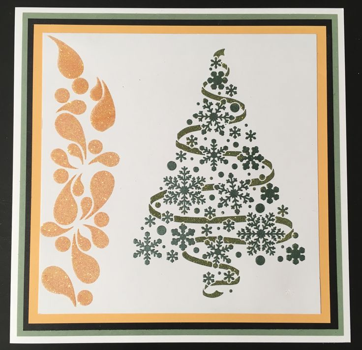 Created by Tracy Nutton using the Christmas Tree Stencil from Sweet Poppy Stencils.
