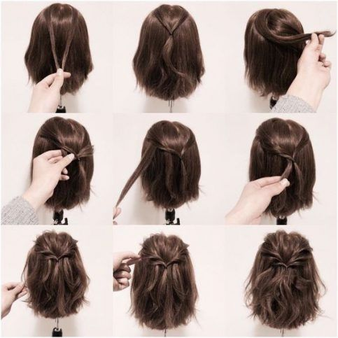 20 Coiffures Pratiques et Rapides Pour Cheveux courts et Mi-longs à L'occasion du Nouvel An