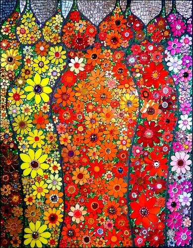 Flower queens - art glass mosaic