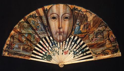 17th century French fan with peepholes allowing ladies to view scandalous plays.: Antiques Fans, French Fans, 17Th Century, Century English, English Masks, Hands Fans, 18Th Century, Scandal Plays, Fans Museums