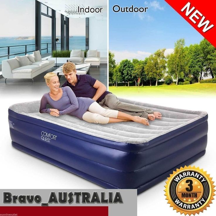 Bestway Queen Air Bed Inflatable Flocked Camping Mattress Built-in Electric Pump