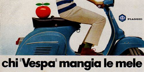 Vespa advert, 1960s