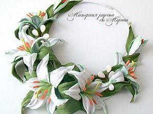 Колье для невесты «Нежность лилий»   Ярмарка Мастеров - ручная работа, handmade