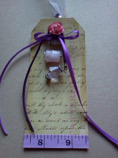 Purple tag...