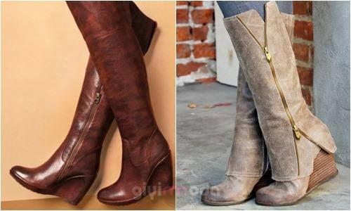 #wedge boots combinations => http://www.giyimvemoda.com/dolgu-topuk-ayakkabibot-nasil-giyilir.html