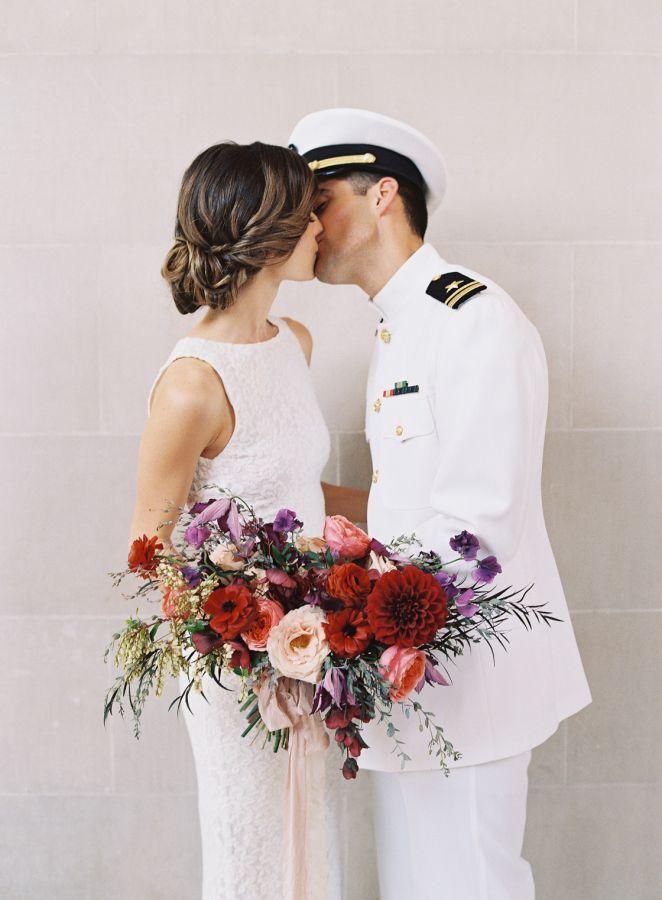 San Francisco City Hall Military Wedding: http://www.stylemepretty.com/2015/11/11/intimate-san-francisco-city-hall-military-wedding/ | Photography: Em The Gem - http://emthegem.com/