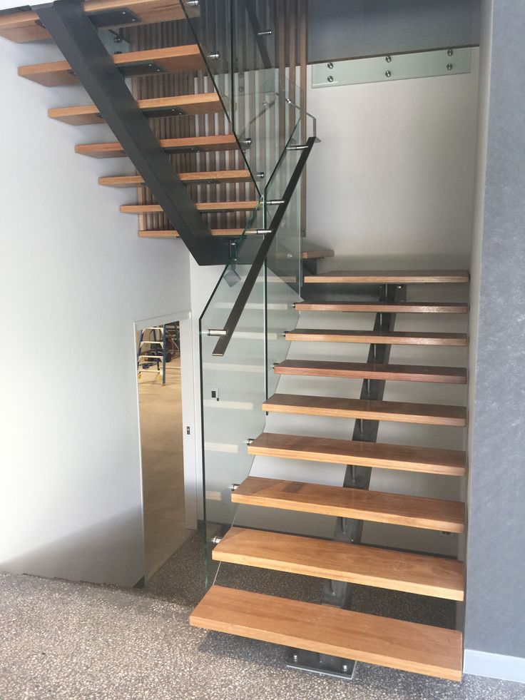 A custom designed staircase by Focus Architecture.