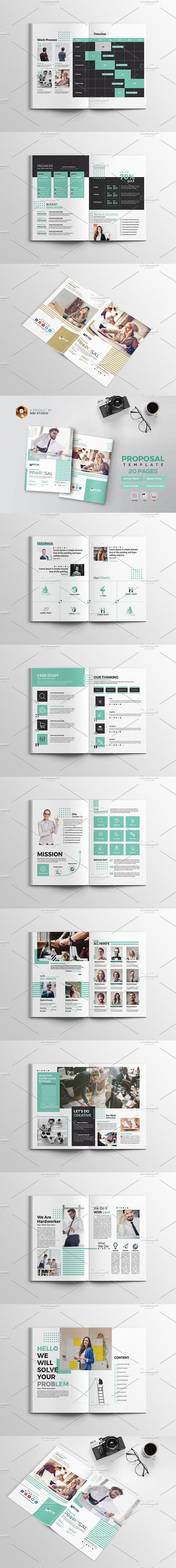 Creative Proposal Template Proposal templates Brochures