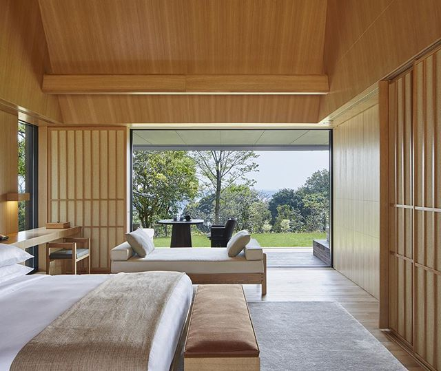 Amanemu, the second Aman in Japan, is set to open in March on the Shima peninsula, which is about three hours drive from Osaka. This resort will have just 24 suites and its own onsen. Looks good We're always suckers for anything natural wood. #newhotels #luxuryhotels #aman