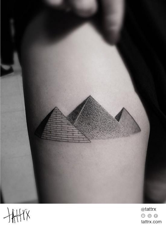 14 Fascinating Pyramid Tattoos