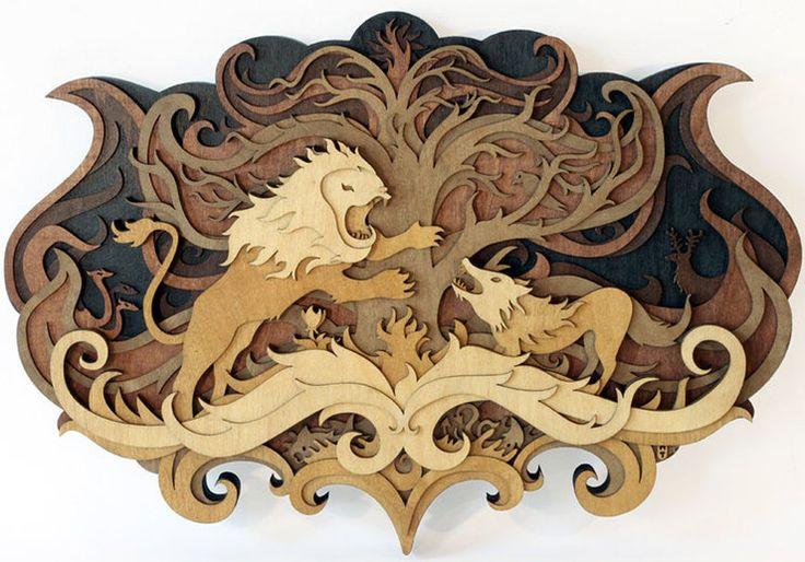 Amazing Laser-Cut Wood Artworks by Martin Tomsky http://designwrld.com/amazing-laser-cut-wood-artworks-by-martin-tomsky/