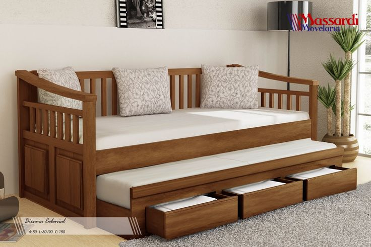 Hideaway bed with storage