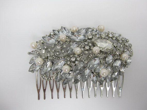 Peigne à cheveux de mariée perles, accessoires de mariage, bijoux cheveux mariage, morceau de cheveux de mariage, mariage peigne perle, mariée peigne, pièce de tête mariage
