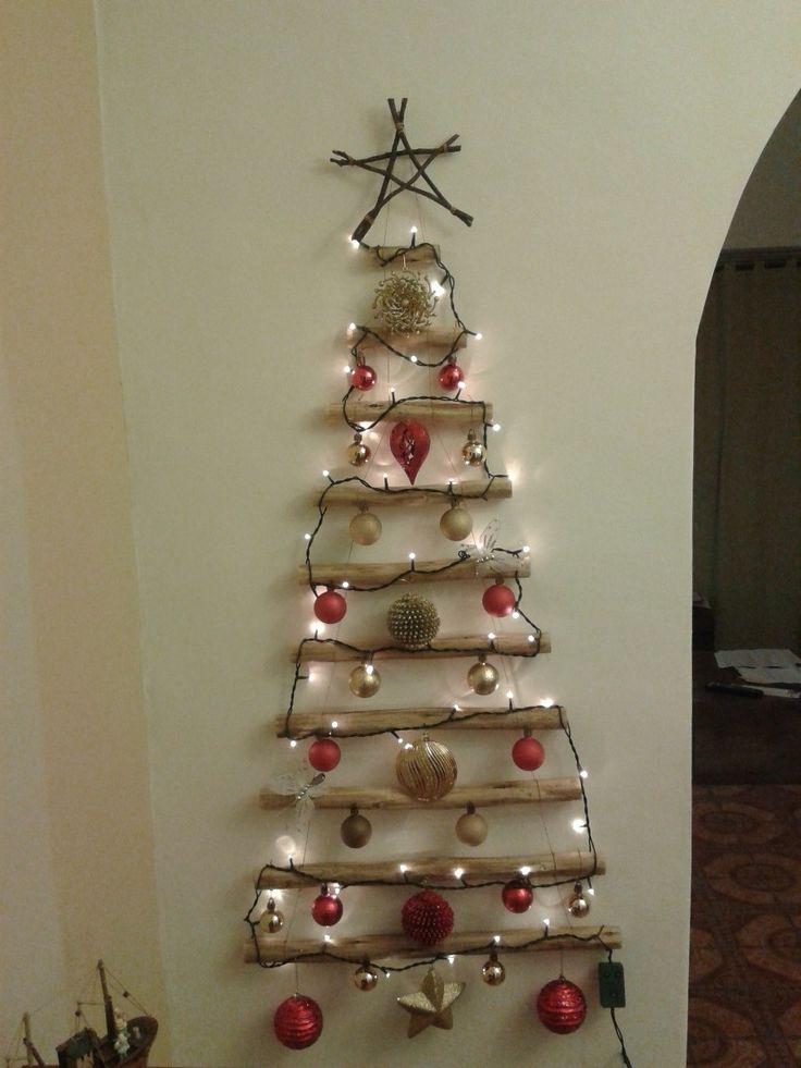 Rbol de navidad de pared colgante de madera rbol for Colgantes para arbol de navidad