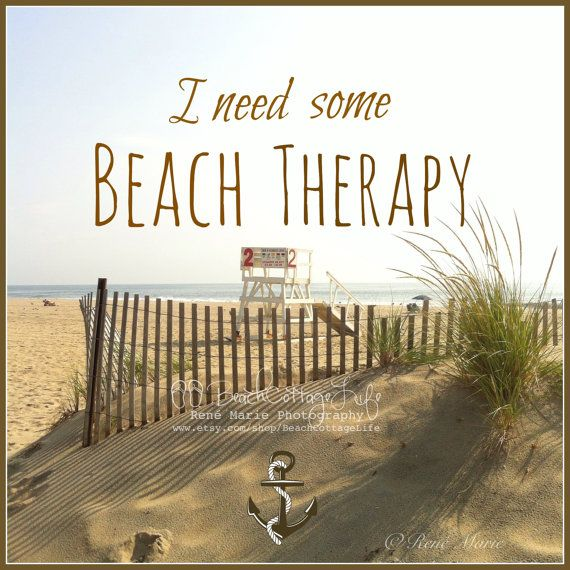BEACH THERAPY: I'd Rather be Seaside Print w/ or w/out quote. Beach Cottage Life (Coastal Living Cottage / Beach House Wall Art Photography)