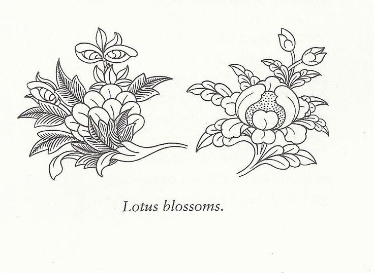 Lotus Blossoms- so perfect. Robert Beer's Illustrations from his Encyclopedia and Handbook of Tibetan Symbols and Motifs.