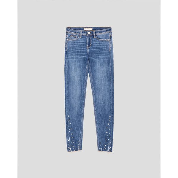 JEANS SKINNY PERLAS - Ver todo-JEANS-MUJER   ZARA España ($36) ❤ liked on Polyvore featuring jeans, skinny leg jeans, super skinny jeans, skinny jeans and skinny fit jeans