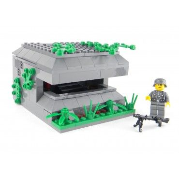 Army WWII German Bunker Made With Real LEGO(R) Bricks. To purchase or for a complete description visit http://www.battlebrickcustoms.com/custom-lego-sets/army-wwii-german-bunker-made-with-real-lego-r-bricks.html