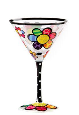 FLOWER martini glass $30