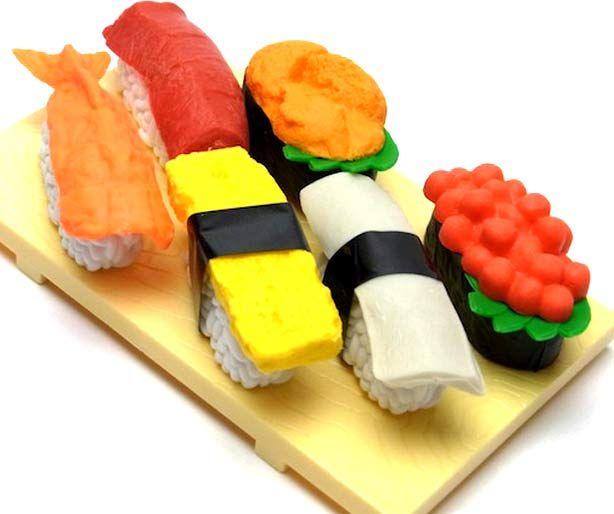 OMOKESHI Sushi ~ Japanese Parody Erasers Set http://anime.jlist.com/click/4518?url=http://www.jlist.com/product/ERS184