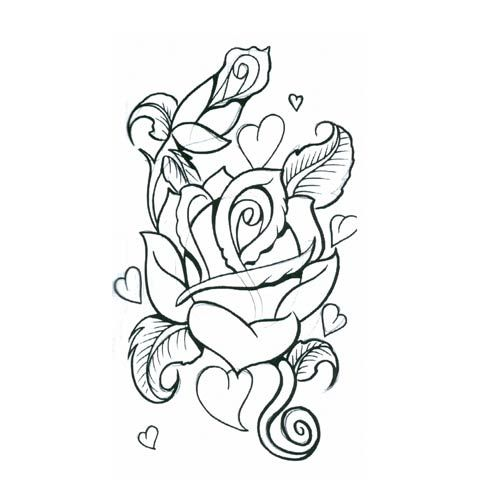 Rose Heart Tattoo Designs