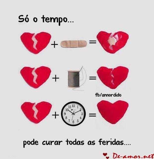 amor e tempo frases | Só o tempo pode curar todas as feridas…