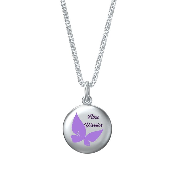 "Fibro Warrior Coin Pendant and Chain 16"" Order Here https://goo.gl/segk8x  #silver #style #jewellery #fashionaccessories #fashionblogger #christmasgift #pendants #passionforfashion #followme #jewelry"