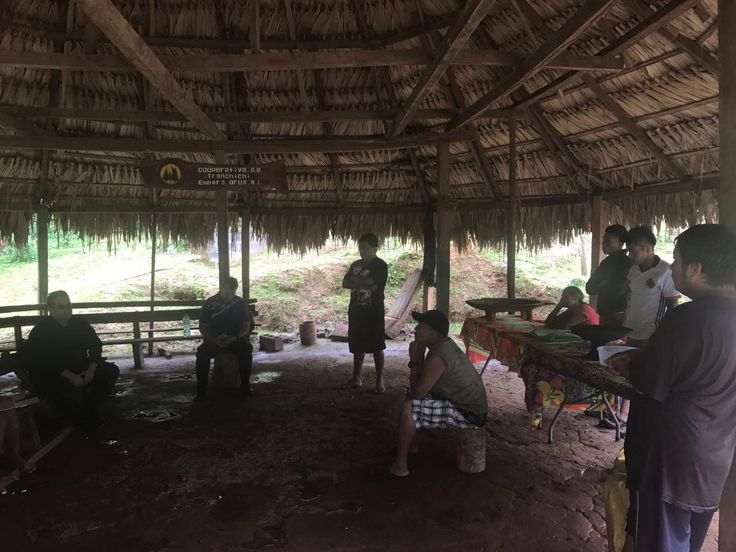 With local leaders in Emberá Drua Community, Chagres National Park, Panama