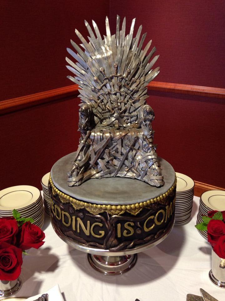 Wedding is Coming. Rehearsal Dinner surprise groom Game of Thrones cake!