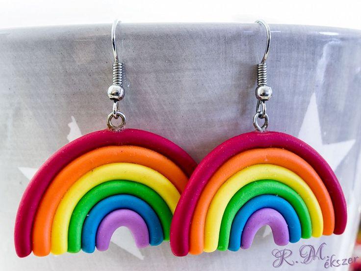 R.M.ékszer  Rainbow overflow szivárvány fülbevaló