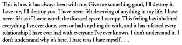 James Frey, A Million Little Pieces favorite book