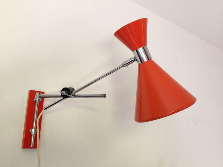 Vintage wandlamp Diabolo lamp Vintage wall lamp