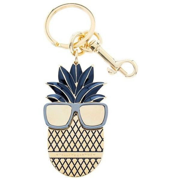 Stella McCartney Pineapple Key Charm (2090 MAD) ❤ liked on Polyvore featuring bags, handbags, white handbags, pineapple bag, stella mccartney, stella mccartney handbags and stella mccartney purses
