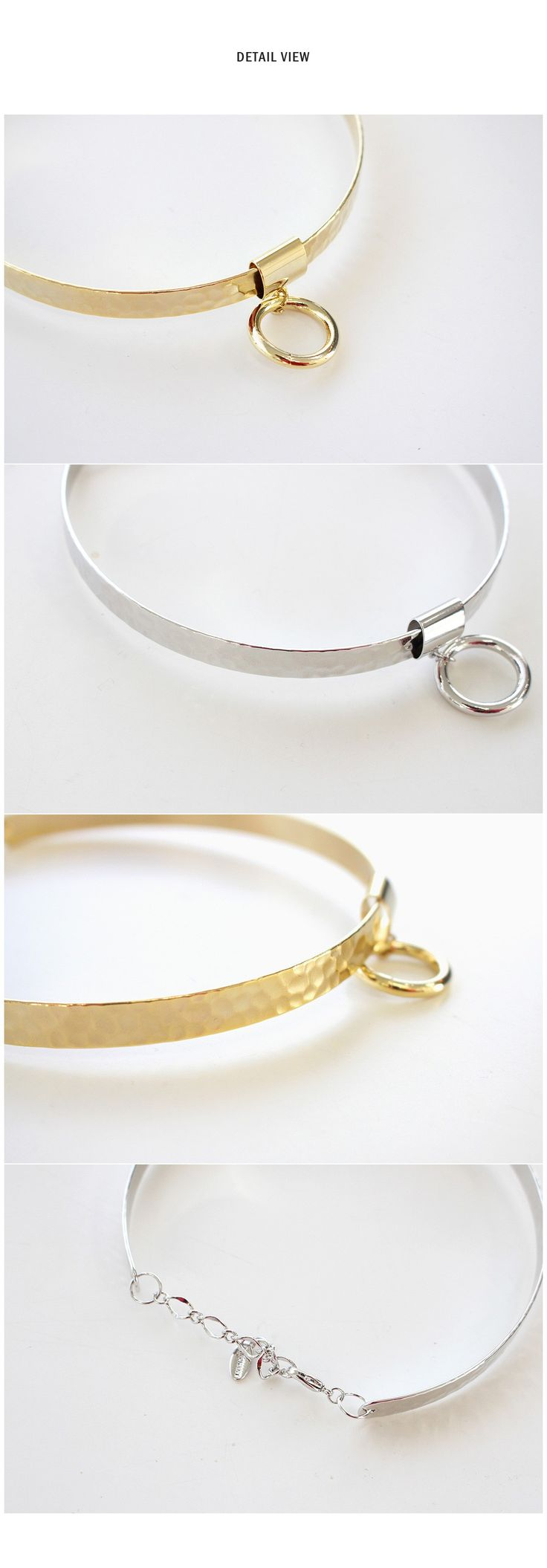 Circle-Pendant Metal Choker                                                                                                                                                                                 More