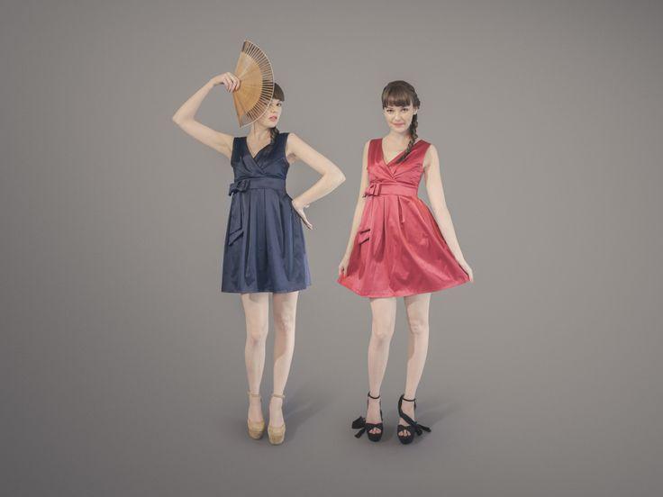 Sunny Daze Dress - Navy, Cranberry