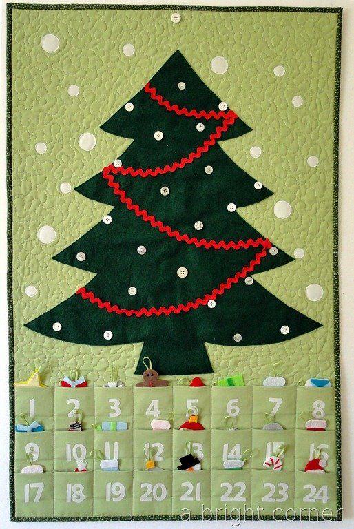 Christmas Tree Advent Calendar - free pattern
