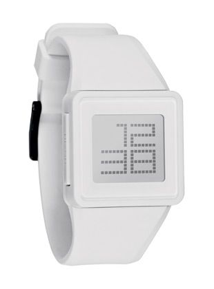 The Newton Digital Watch from Nixon: $100. I think I've finally found a watch I'd buy.