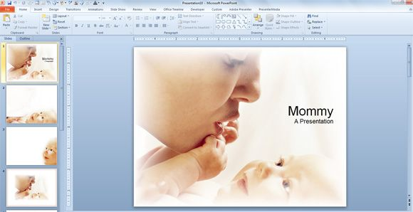 Cute Mother and Baby Background