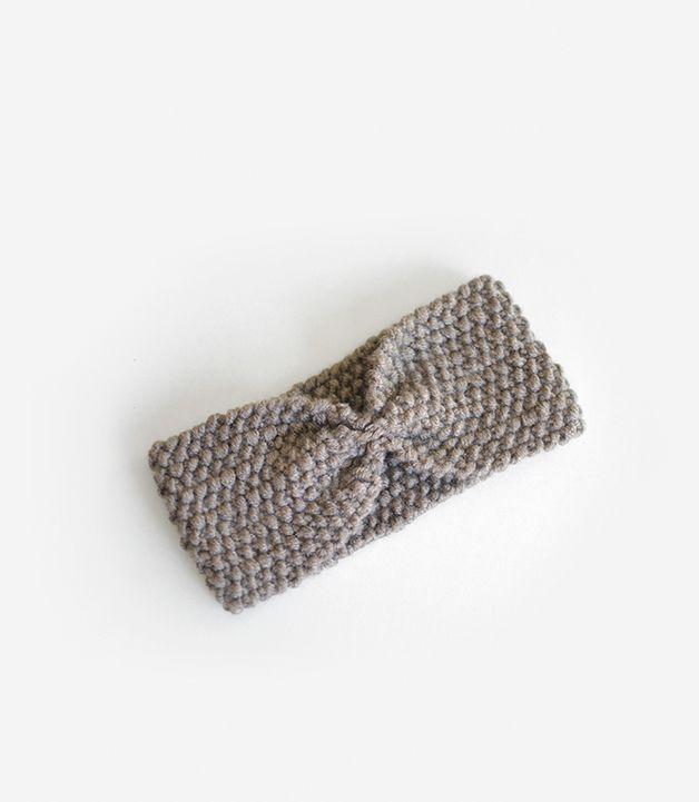 Stirnbänder - Turban Stirnband, Ohrenwärmer / Handgestrickt - ein Designerstück von plexida bei DaWanda