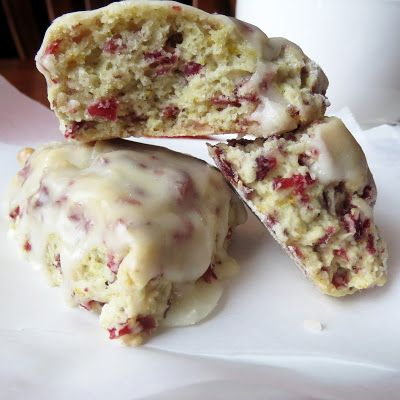 Cranberry Orange Glazed Scones | food | Pinterest