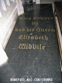Tomb of Elizabeth Woodville - British monarch, Queen consort of King Edward IV. at St. George's Chapel, Windsor, Berkshire, UK
