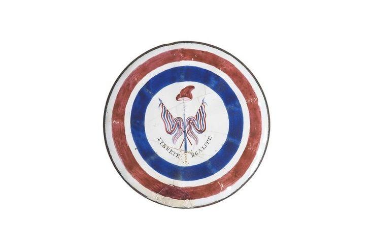 18th century French Revolution tri colored button.